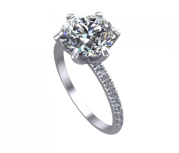 Elissa Ring 6 Prongs WG