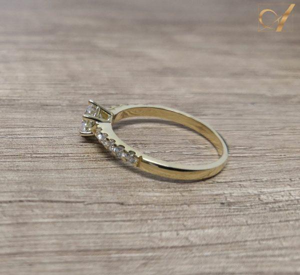 Avior Ring Yellow Gold 1.00ct D-IF Amora