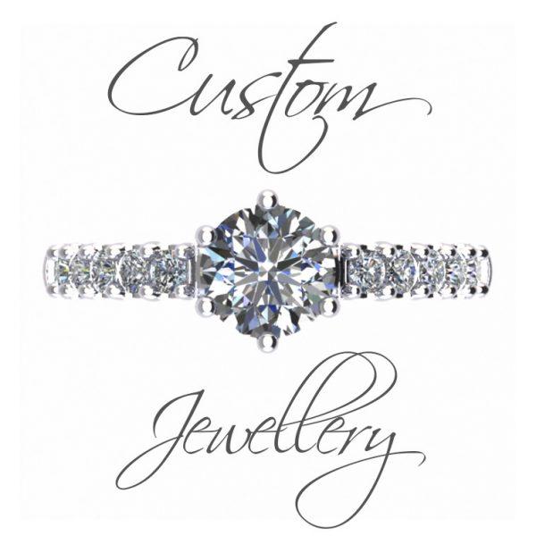 Custom ring Amora gem