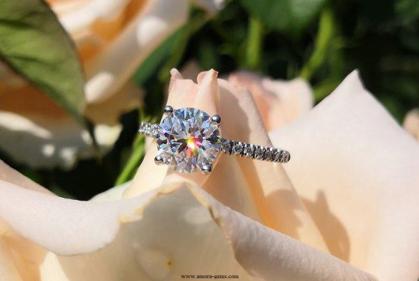 Elissa Platinum Ring & Amora Gem & diamonds